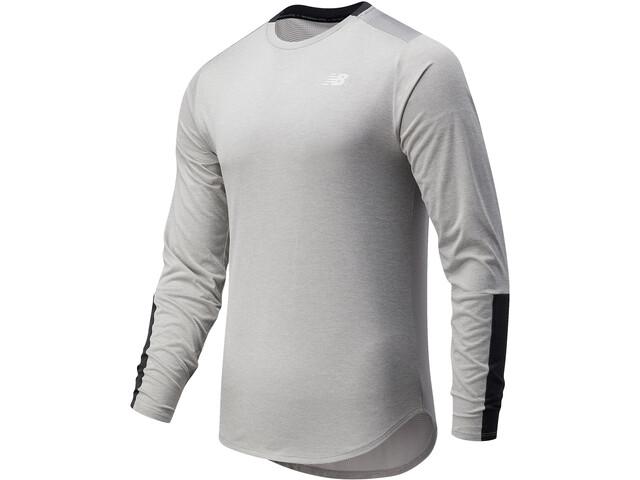 New Balance Fast Flight Long Sleeve Men athletic grey